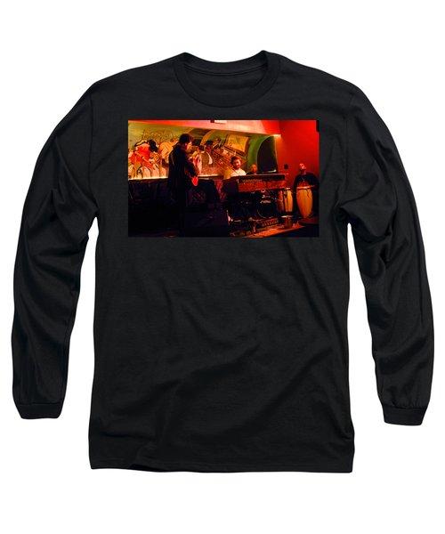 Jc Stylles At Mintons Playhouse Harlem Usa Long Sleeve T-Shirt by Steve Archbold
