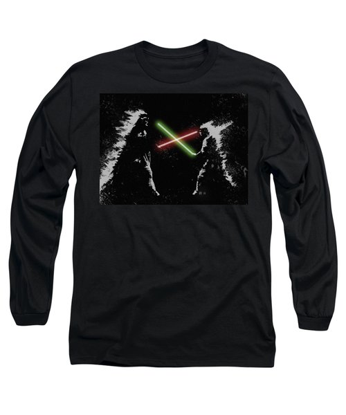 Jedi Duel Long Sleeve T-Shirt by George Pedro