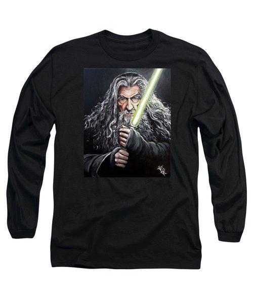 Jedi Master Gandalf Long Sleeve T-Shirt