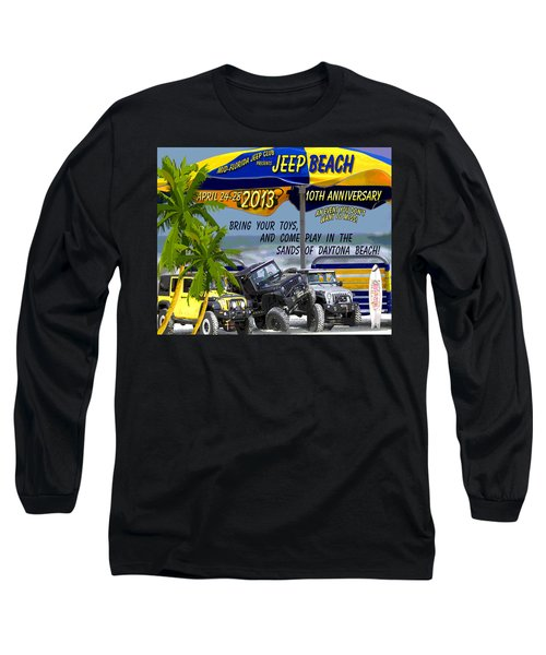 Long Sleeve T-Shirt featuring the photograph Jeep Beach 2013 Welcomes All Jeepers by DigiArt Diaries by Vicky B Fuller