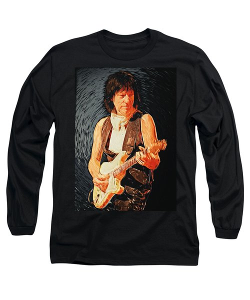 Jeff Beck Long Sleeve T-Shirt by Taylan Apukovska