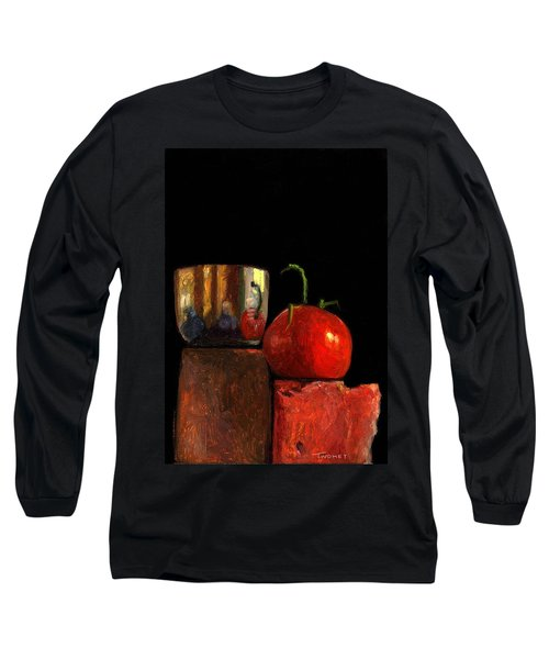 Jefferson Cup With Tomato And Sedona Bricks Long Sleeve T-Shirt by Catherine Twomey