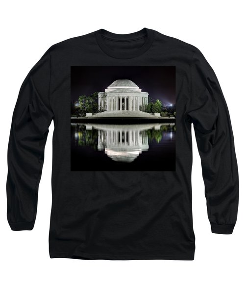 Jefferson Memorial - Night Reflection Long Sleeve T-Shirt