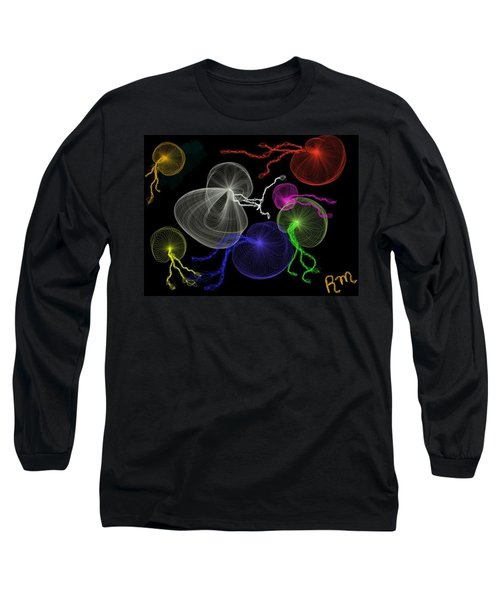 Jellyfish Jam Long Sleeve T-Shirt by Renee Michelle Wenker