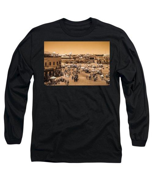 Jemaa El Fna Market In Marrakech At Noon Long Sleeve T-Shirt
