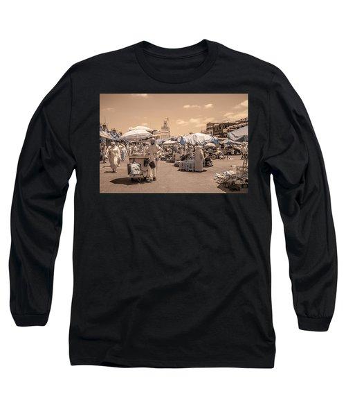 Jemaa El Fna Market In Marrakech Long Sleeve T-Shirt