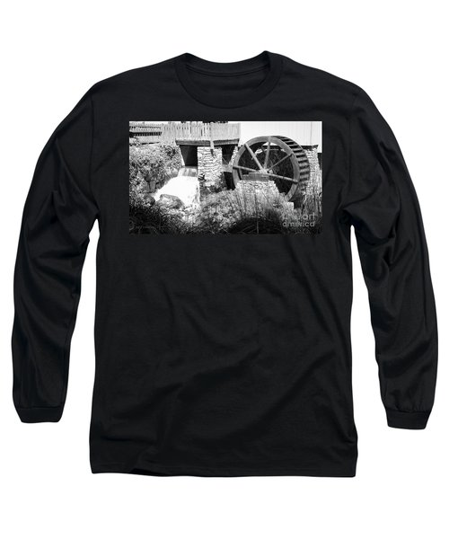 Jenney Mill In Black And White Long Sleeve T-Shirt