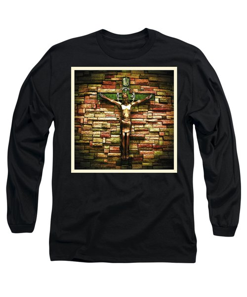 Jesus Is His Name Cream Border Long Sleeve T-Shirt
