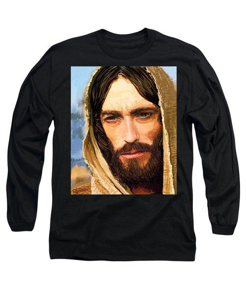 Long Sleeve T-Shirt featuring the digital art Jesus Of Nazareth Portrait by Dave Luebbert
