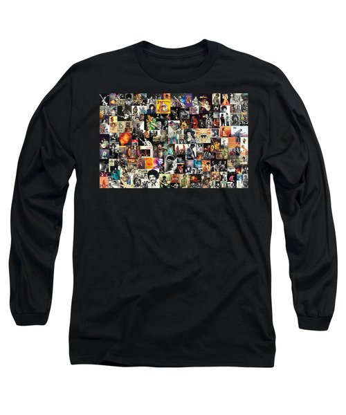 Jimi Hendrix Collage Long Sleeve T-Shirt