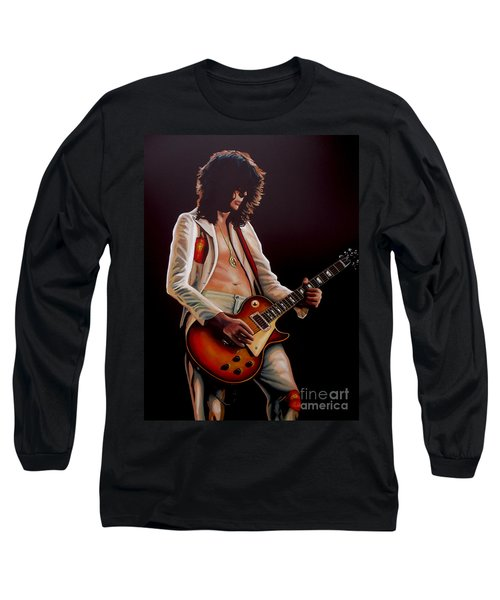Jimmy Page In Led Zeppelin Painting Long Sleeve T-Shirt