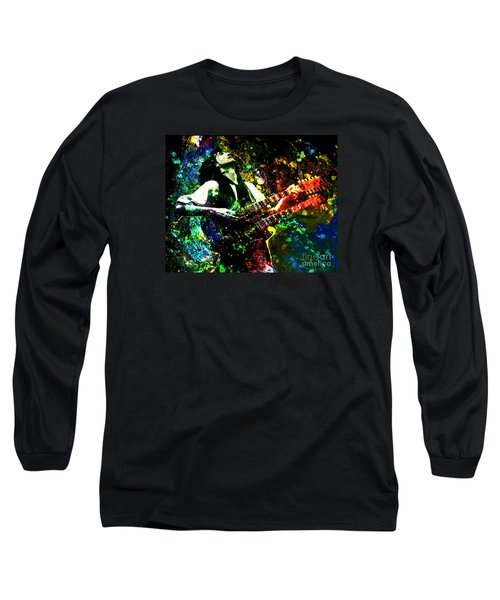 Jimmy Page - Led Zeppelin - Original Painting Print Long Sleeve T-Shirt