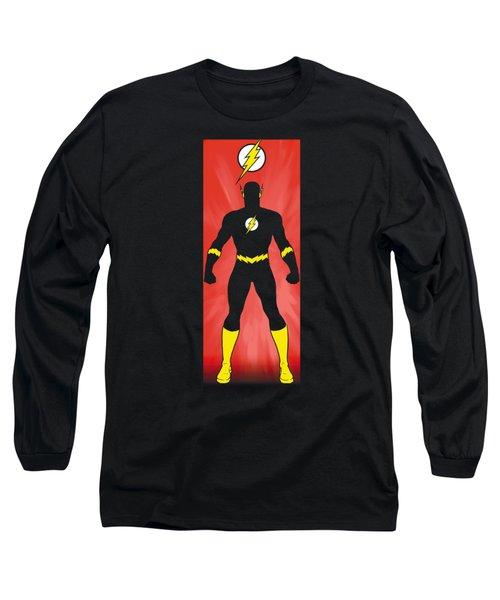 Jla - Flash Block Long Sleeve T-Shirt