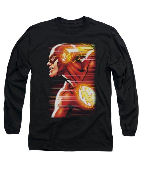 Jla - Speed Head Long Sleeve T-Shirt