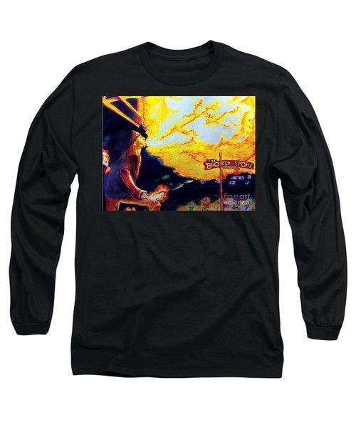 Joe At The Broken Spoke Saloon Long Sleeve T-Shirt by Albert Puskaric