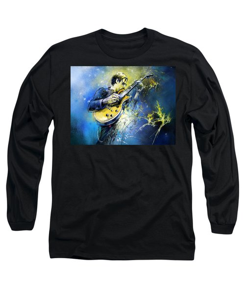 Joe Bonamassa 01 Long Sleeve T-Shirt by Miki De Goodaboom