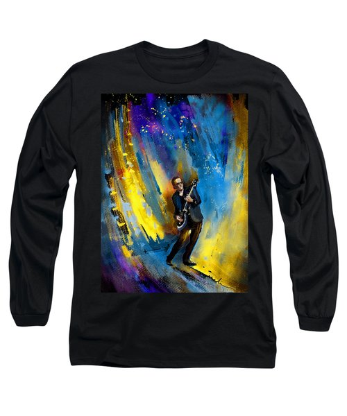 Joe Bonamassa 03 Long Sleeve T-Shirt by Miki De Goodaboom