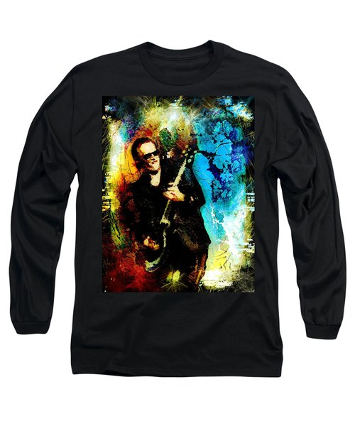 Joe Bonamassa Madness Long Sleeve T-Shirt by Miki De Goodaboom
