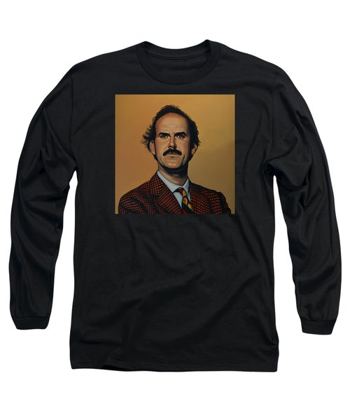 John Cleese Long Sleeve T-Shirt by Paul Meijering