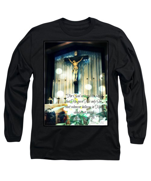John316 - Easter Crucifix Long Sleeve T-Shirt by Sharon Soberon
