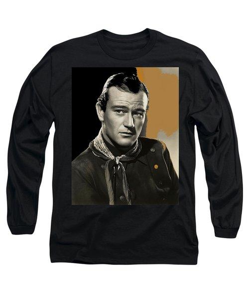 John Wayne  Publicity Photo In Costume Stagecoach 1939-2009 Long Sleeve T-Shirt