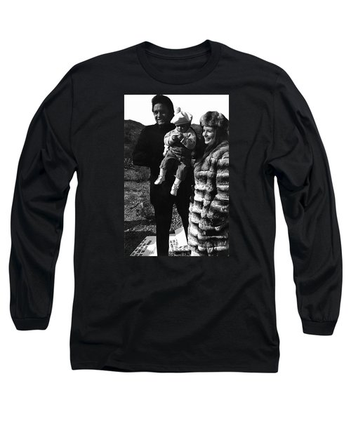 Long Sleeve T-Shirt featuring the photograph Johnny Cash And Family Old Tucson Arizona 1971 by David Lee Guss