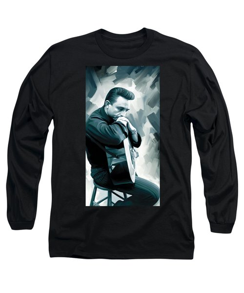 Johnny Cash Artwork 3 Long Sleeve T-Shirt