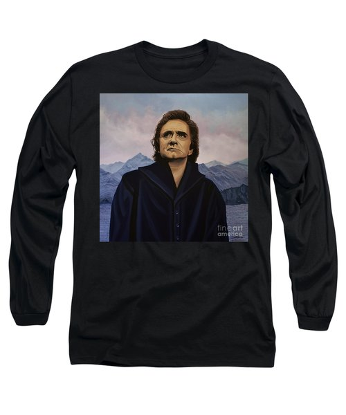 Johnny Cash Painting Long Sleeve T-Shirt