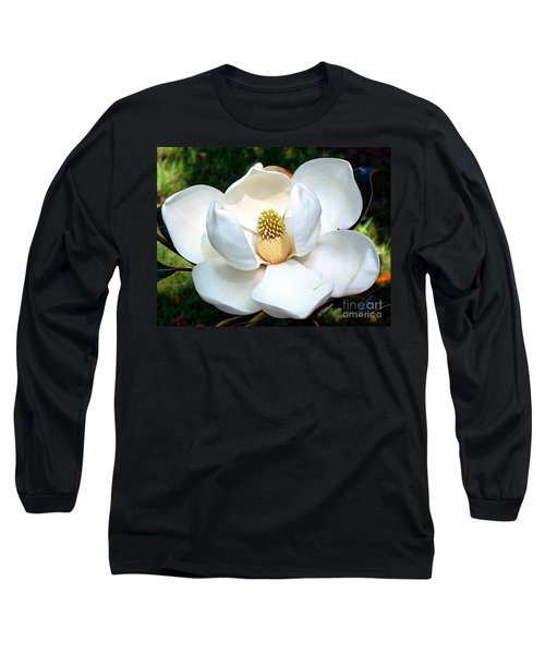 Long Sleeve T-Shirt featuring the photograph John's Magnolia by Barbara Chichester