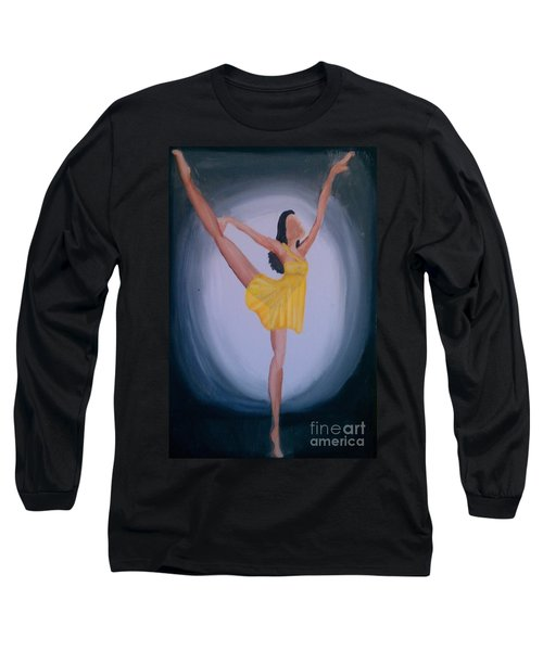 Long Sleeve T-Shirt featuring the painting Joy by Marisela Mungia