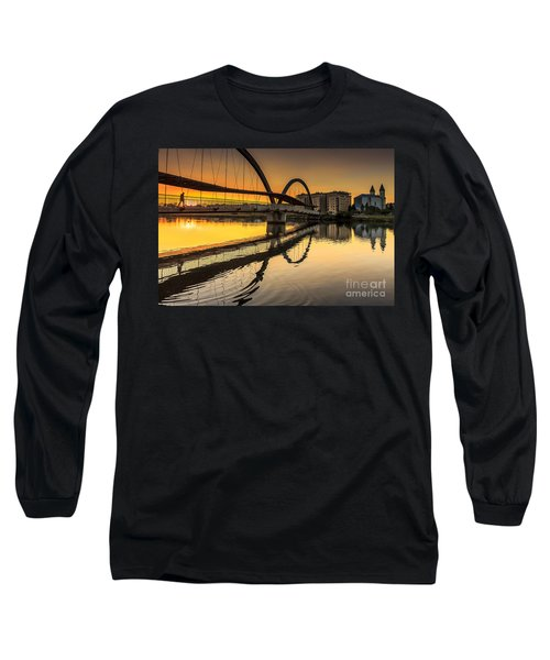 Jubia Bridge Naron Galicia Spain Long Sleeve T-Shirt by Pablo Avanzini