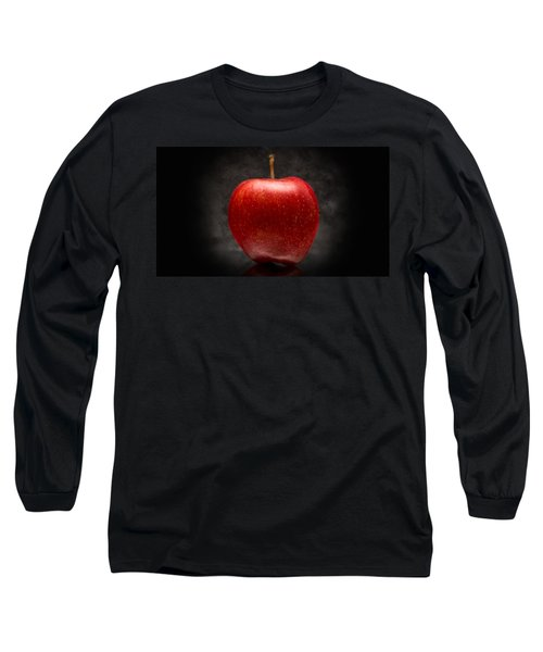 Long Sleeve T-Shirt featuring the photograph Juicy Red Apple by Aaron Berg