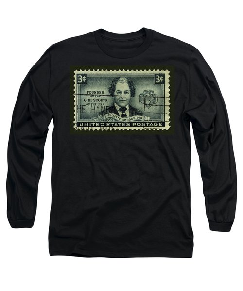 Girl Scouts Founder Juliette Gordon Low Postage Stamp Long Sleeve T-Shirt