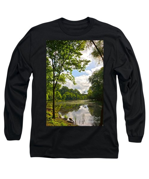 July Fourth Duck Pond With Goose Long Sleeve T-Shirt