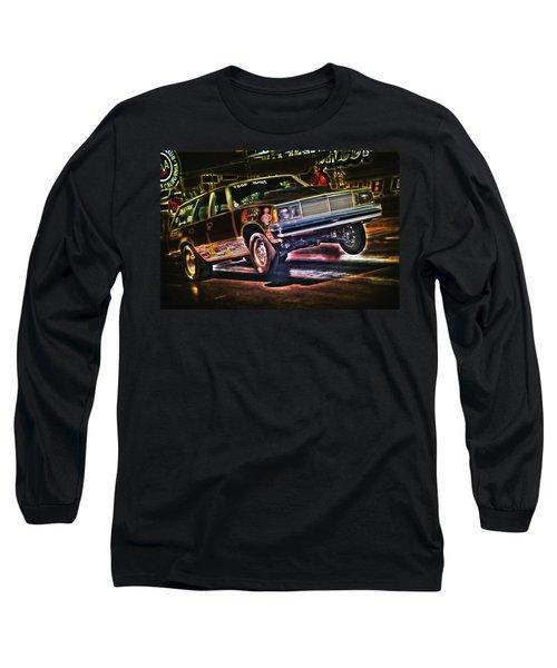 Jumping Chevelle Long Sleeve T-Shirt by Richard J Cassato