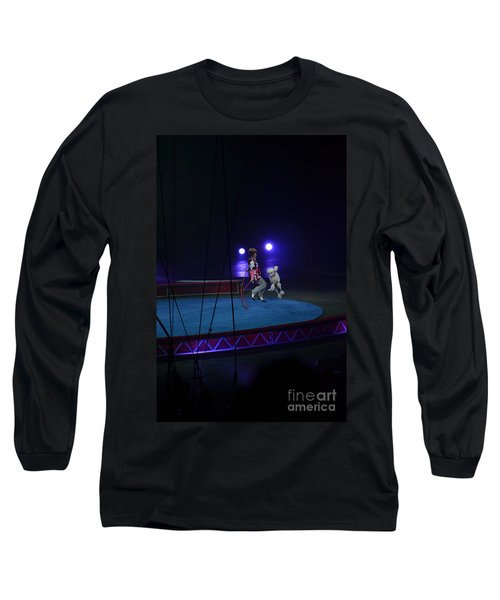 Long Sleeve T-Shirt featuring the photograph Jumprope With Fido by Robert Meanor