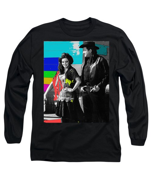 June Carter Cash Johnny Cash In Costume Old Tucson Az 1971-2008 Long Sleeve T-Shirt