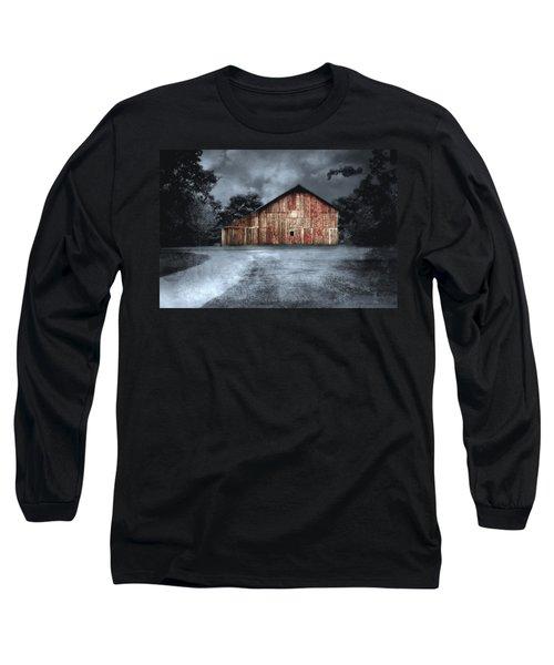 Night Time Barn Long Sleeve T-Shirt