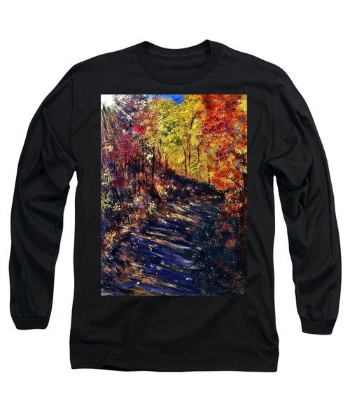 Long Sleeve T-Shirt featuring the painting Just The Sound Of The Forest... by Cristina Mihailescu