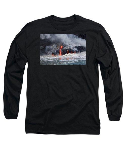 Lava Falls At Kalapana Long Sleeve T-Shirt
