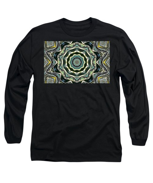 Kaleidoscope Long Sleeve T-Shirt by Oksana Semenchenko