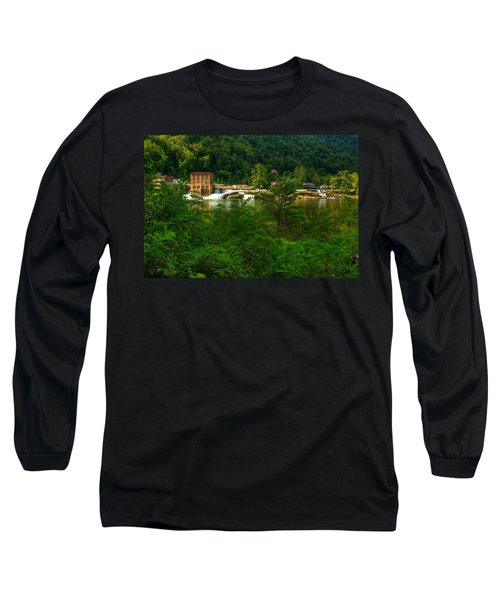 Long Sleeve T-Shirt featuring the photograph Kanawha Falls by Dave Files