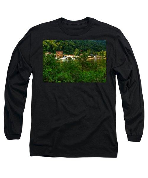 Kanawha Falls Long Sleeve T-Shirt by Dave Files