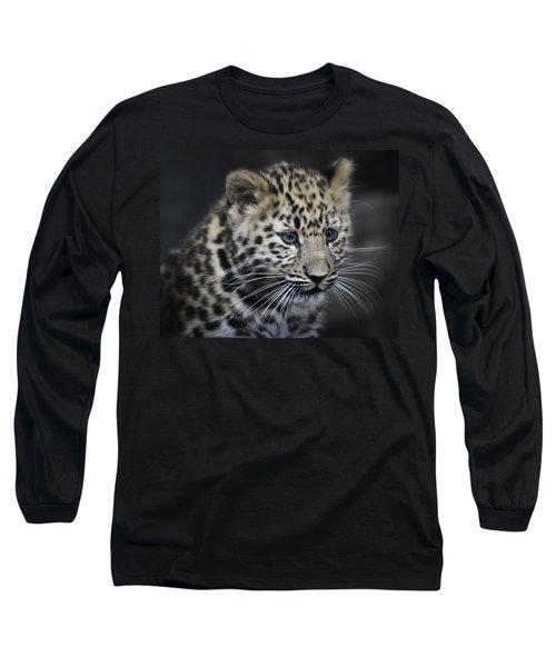 Kanika - Amur Leopard Portrait Long Sleeve T-Shirt