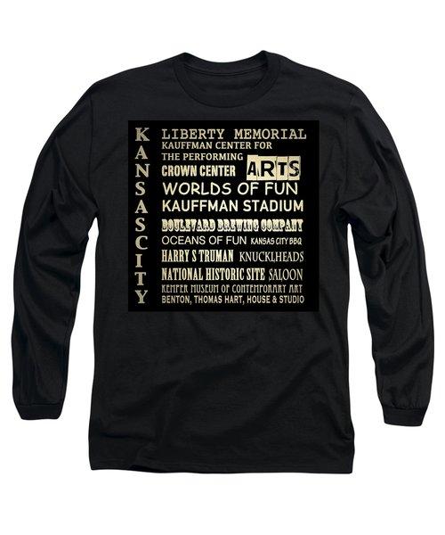 Kansas City Famous Landmarks Long Sleeve T-Shirt