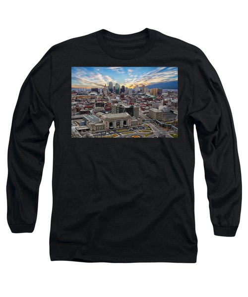 Kansas City Skyline Long Sleeve T-Shirt