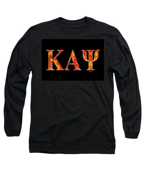 Kappa Alpha Psi - Black Long Sleeve T-Shirt by Stephen Younts