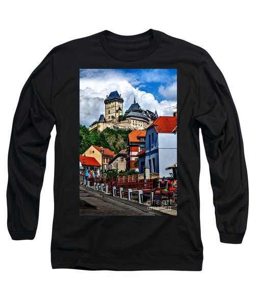 Long Sleeve T-Shirt featuring the photograph Karlstejn Castle In Prague  by Joe  Ng