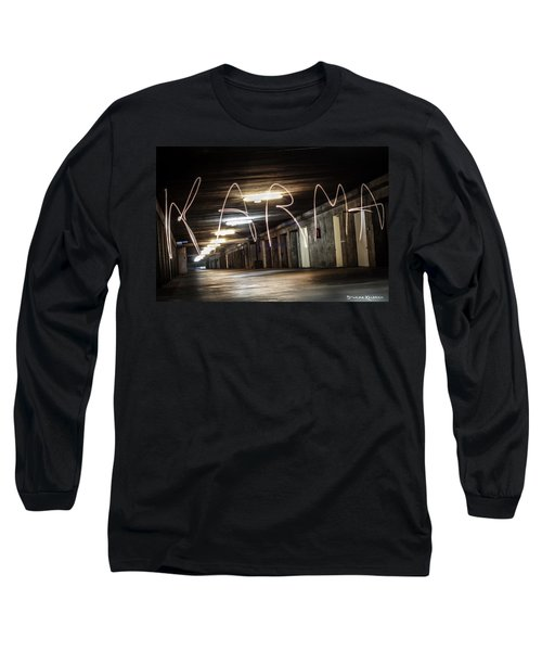 Long Sleeve T-Shirt featuring the photograph Karma Light Painting by Stwayne Keubrick