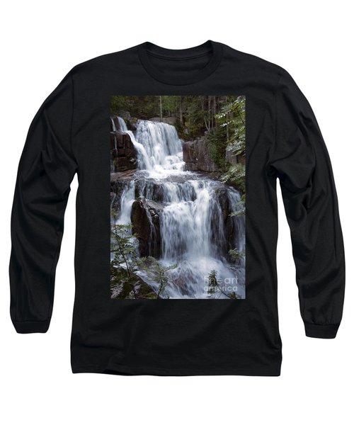 Katahdin Stream Falls Baxter State Park Maine Long Sleeve T-Shirt by Glenn Gordon